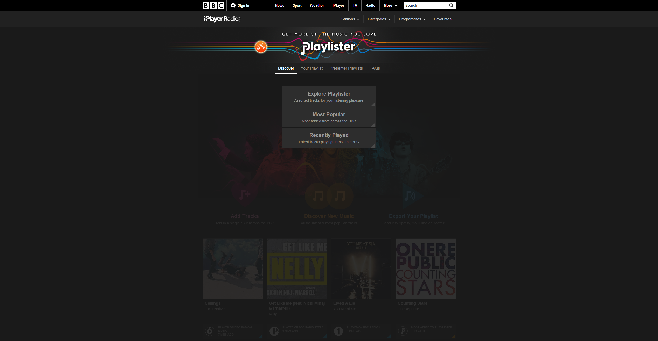Playlister explore How to use the BBCs new Playlister music service