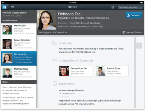 Screen Shot 2013 10 23 at 9.53.00 AM LinkedIn unveils a new look iPad app and brings Rapportive to mobile with new Intro feature
