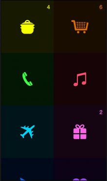 Screenshot 1 220x371 Tick for iPhone is an ambience aware to do list app that lets you choose your own colors