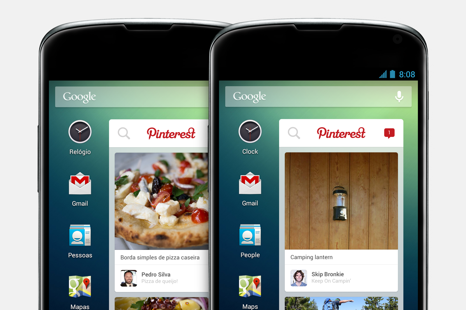 android widget 2 New Pinterest widget to come pre installed on millions of Android smartphones sold by Telefónica