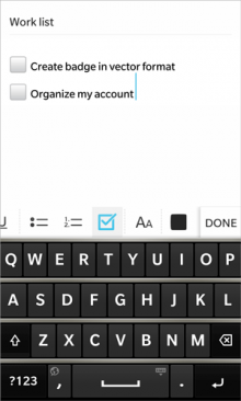 bb check 220x366 Evernote for BlackBerry 10 updated with checkboxes, image and audio attachments
