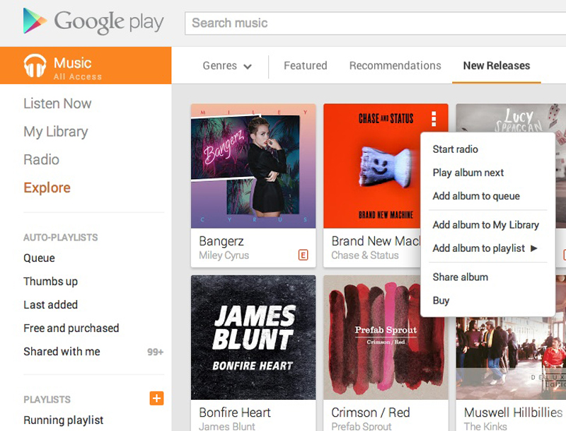 explore1 An in depth guide to Google Play Music All Access