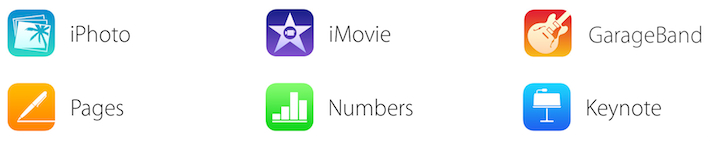 ios icons Apples website points to flat icons, free GarageBand, and new features for iPhoto and iMovie