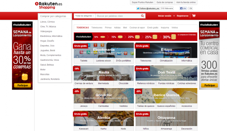 rak esp 730x423 Japanese e commerce giant Rakuten brings its online marketplace to Spain
