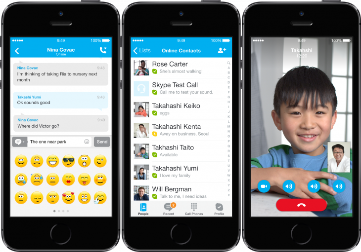 skype ios7 730x511 Microsoft redesigns Skype for iOS 7, makes accessibility and VoiceOver improvements