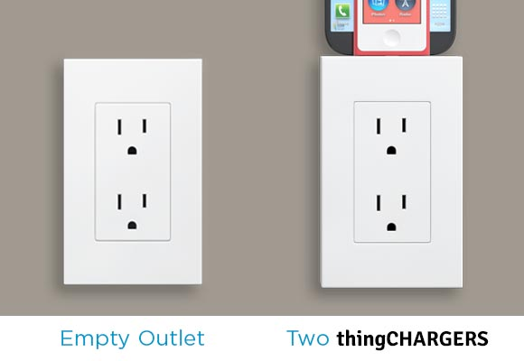 thingcharger 1 thingCHARGER transforms any US outlet into a clutter free charging station with multiple adapters