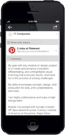 work with us ads 220x456 LinkedIn brings its Work With Us job tool to mobile, launches iOS app to help recruiters manage candidates