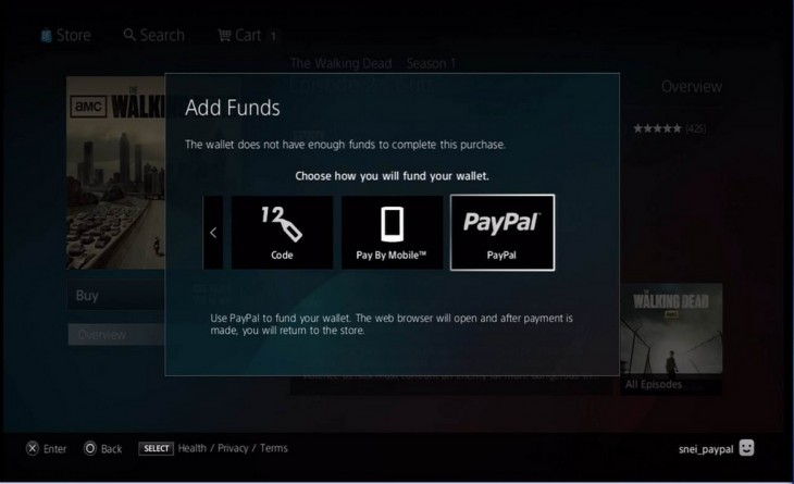 10565419954 1666978a12 b 730x445 You can now add credit to your Sony Entertainment Network wallet using PayPal on the PlayStation 3