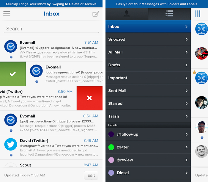 Evomail1 30 of the most beautiful and well designed Android apps