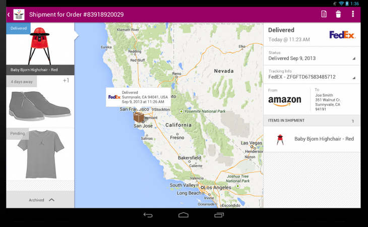 ImageSlice 730x450 - Slice now lets you track all your online purchases from your Android tablet