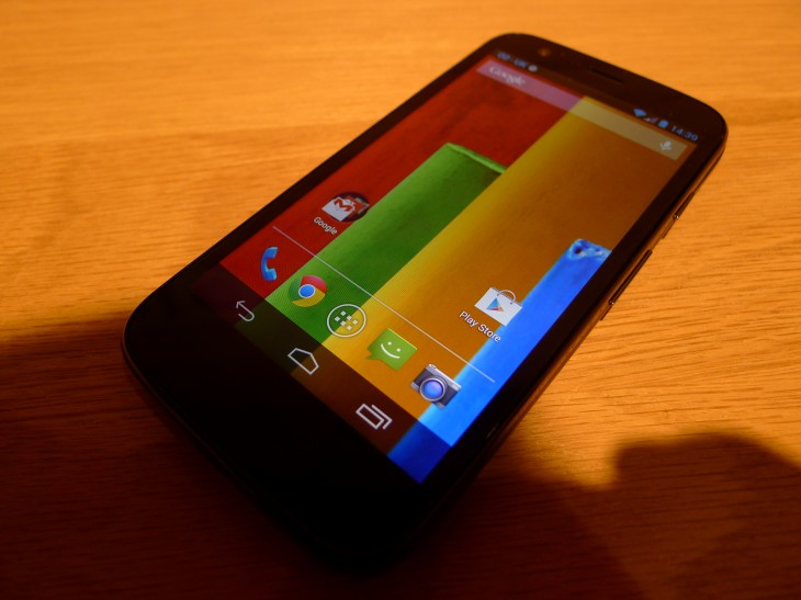 P1040583 730x547 Moto G hands on: Motorola ignores low end smartphone expectations with this stylish sub $200 handset
