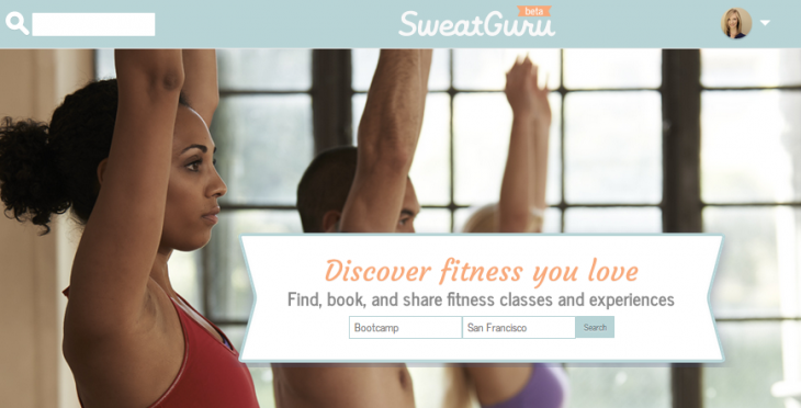 SweatGuru Home 730x372 SweatGuru: An easy way to search, book and list fitness classes online