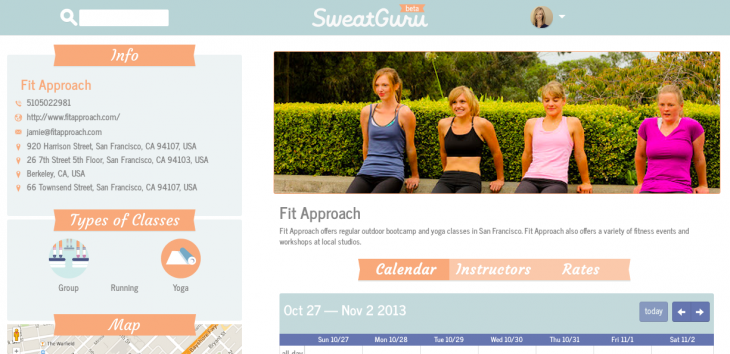 SweatGuru studio profile 730x354 SweatGuru: An easy way to search, book and list fitness classes online