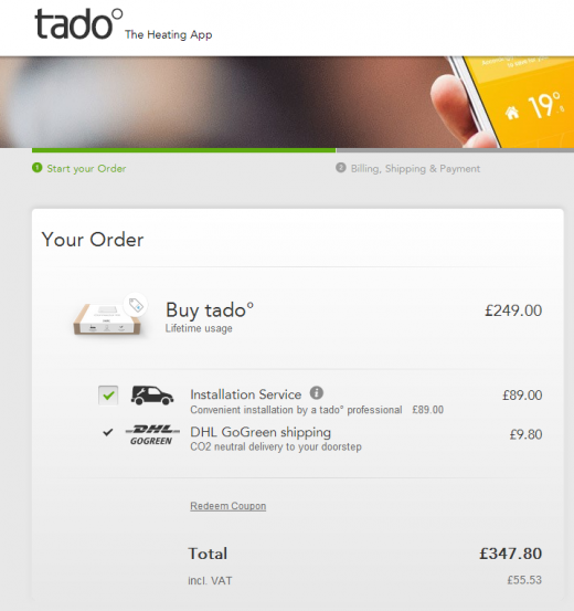 Tado cost 520x553 Tado's smart central heating system is available in the UK now, but get an engineer to install it