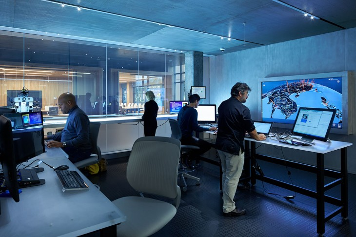 WorkingintheForensic Web 730x486 Microsoft opens a futuristic Cybercrime Center in Redmond to tackle botnets, malware and more
