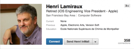 henri lamiraux linkedin retired 520x193 Henri Lamiraux, Apples head of iOS engineering, has left the company after 23 years