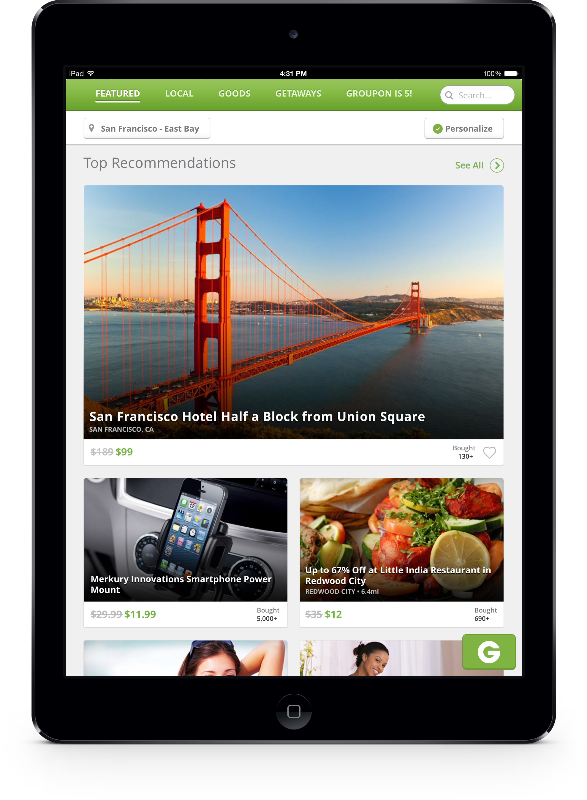 how to get featured on groupon