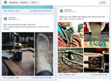 starbucks fb1 220x162 When should you use email marketing? Best practices to retain and grow your user base
