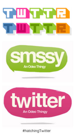 twitterall Early logo designs reveal what Twitter could have looked like under alternative names Smssy and Twttr