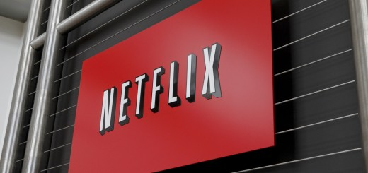 The Netflix company logo is seen at Netf