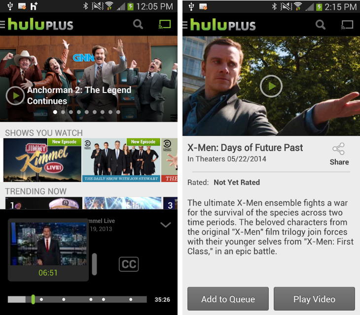 Hulu1 So you've just got an Android device? Download these apps first