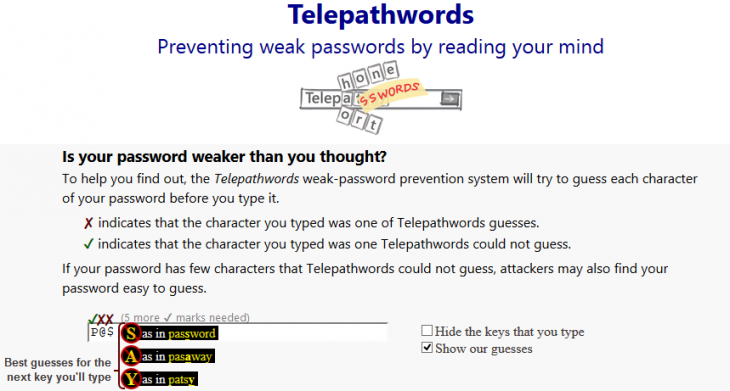 Screenshot 2 730x391 Telepathwords: This tool from Microsoft tells you how bad your passwords are by guessing the next letter