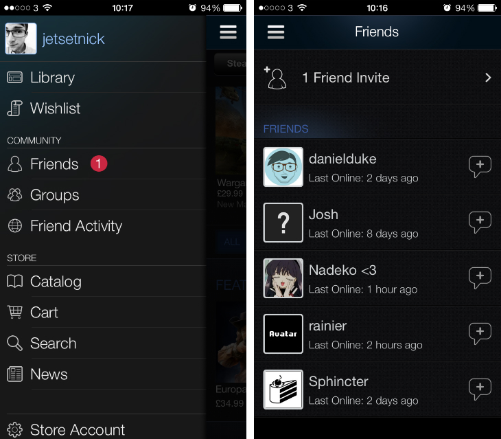 Valve redesigns its Steam Mobile for iOS app, adds offline chat, new friend invite area and more