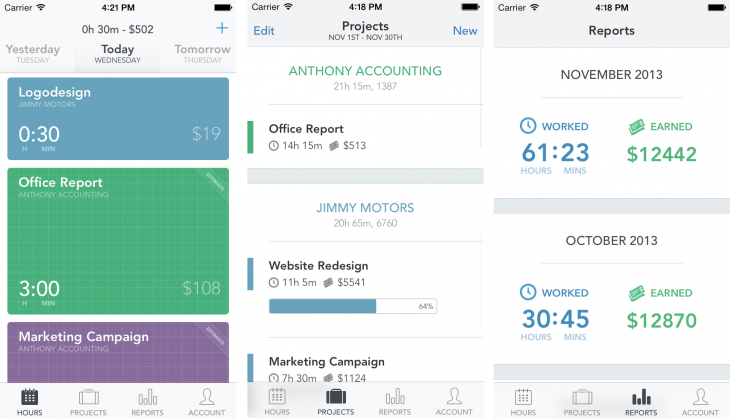 Timely 730x419 Timely: This time tracking app for iOS wants to destroy timesheets
