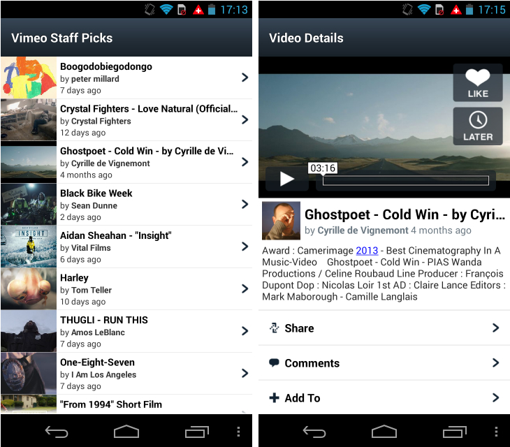 Vimeo1 So you've just got an Android device? Download these apps first