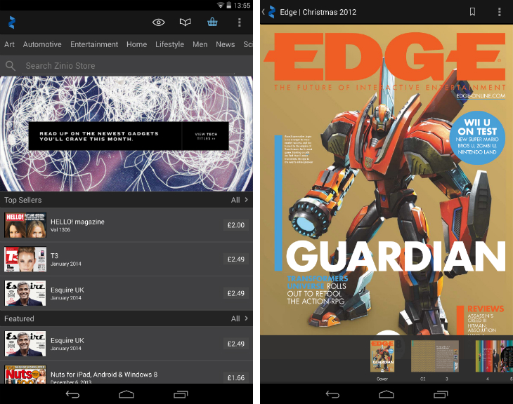 Zinio1 10 must have Android apps for keeping on top of the news