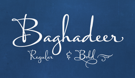 baghadeer 520x302 The most beautiful typefaces from this past month