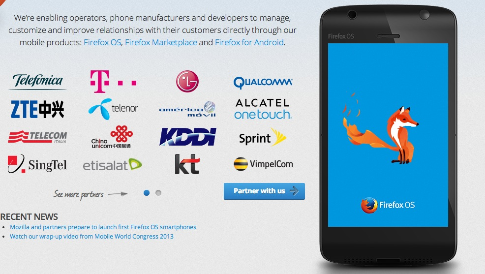 firefox os partners screenshot 2013 in Latin American tech: Less talk, more results