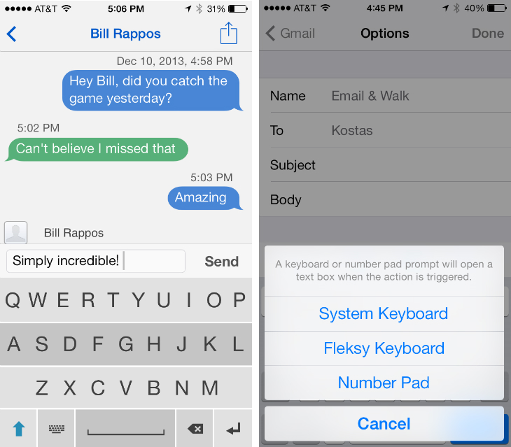 fleksy1 Fleksy unveils first third party iOS app integrations for its smart, swipe based replacement keyboard