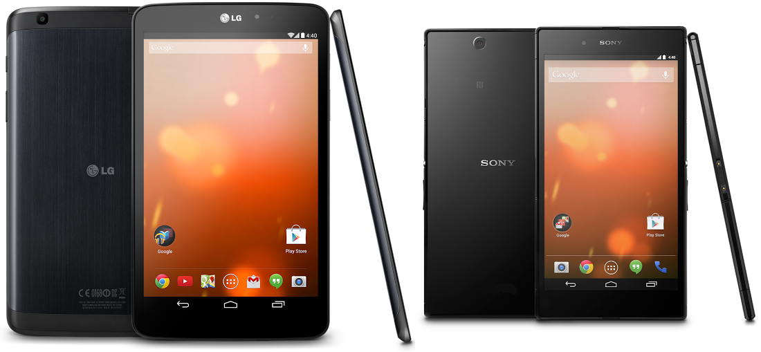 google editions lg sony Google Play Editions of the Sony Z Ultra and LG G Pad 8.3 now available in the US for $649 and $349 respectively