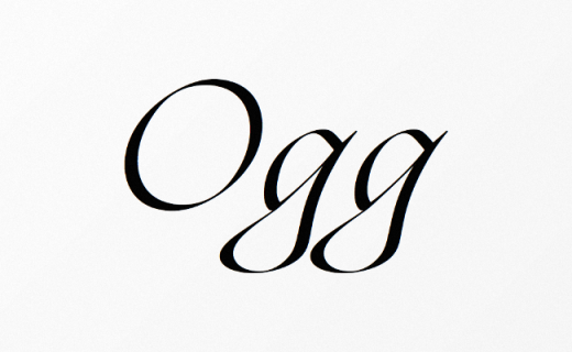 ogg 520x320 The most beautiful typefaces from this past month