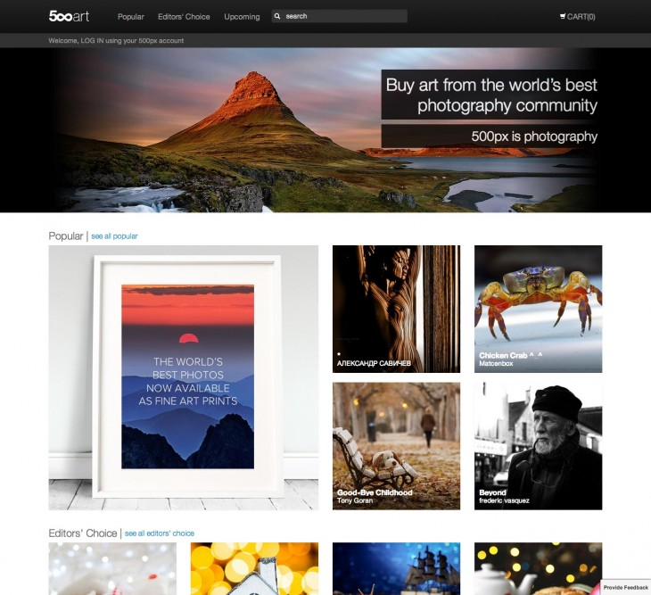 resource1 730x667 500px relaunches Market as 500px Art, a new place for photographers to print and sell their work