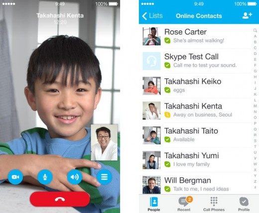 skype horz 520x428 10 video calling apps to connect you with family and friends this Christmas