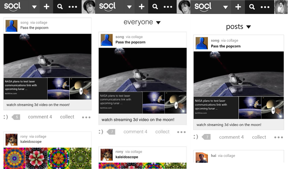 socl android ios wp Microsoft Researchs social network Socl launches on Android, iOS, and Windows Phone