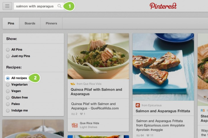2014012101 730x486 Pinterest now lets you search for recipes based on dietary restrictions and ingredients