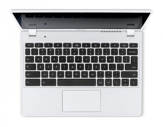 Acer C720P Chromebook white touch keyboard 520x405 Acer unveils two new sub $200 Android tablets, a $1099 desktop, and an updated C720 Chromebook