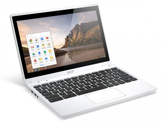 Acer C720P Chromebook white touch right angle 520x396 Acer unveils two new sub $200 Android tablets, a $1099 desktop, and an updated C720 Chromebook