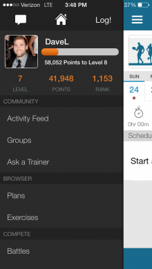Dashboard 220x390 WeightTraining.com beefs out its iPhone app with new design, profile pages and more