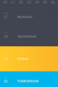 Photo 29 01 2014 17 09 53 220x330 Peek: A simple, beautiful calendar app for iPhone