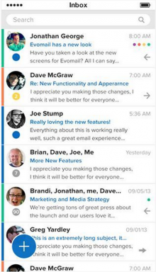 Screen Shot 2014 01 14 at 12.05.32 220x384 Evomail takes another shot at modernizing mobile email with Evomail+ for iOS