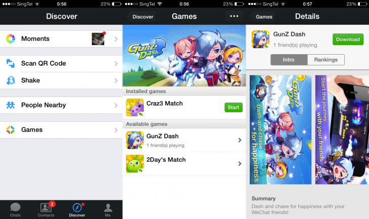 WeChat Games 730x433 Chinese messaging app WeChat takes its games across the world in a bid to become a social platform