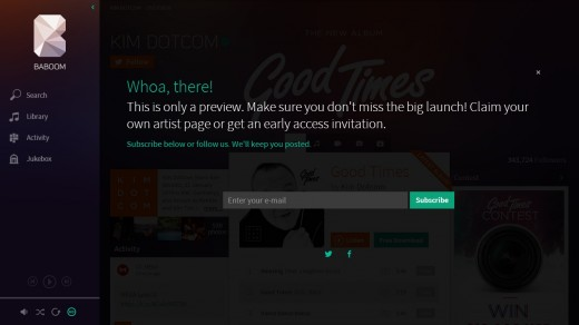 baboom7 520x292 Kim Dotcom gives a sneak preview of Baboom, his new music streaming service