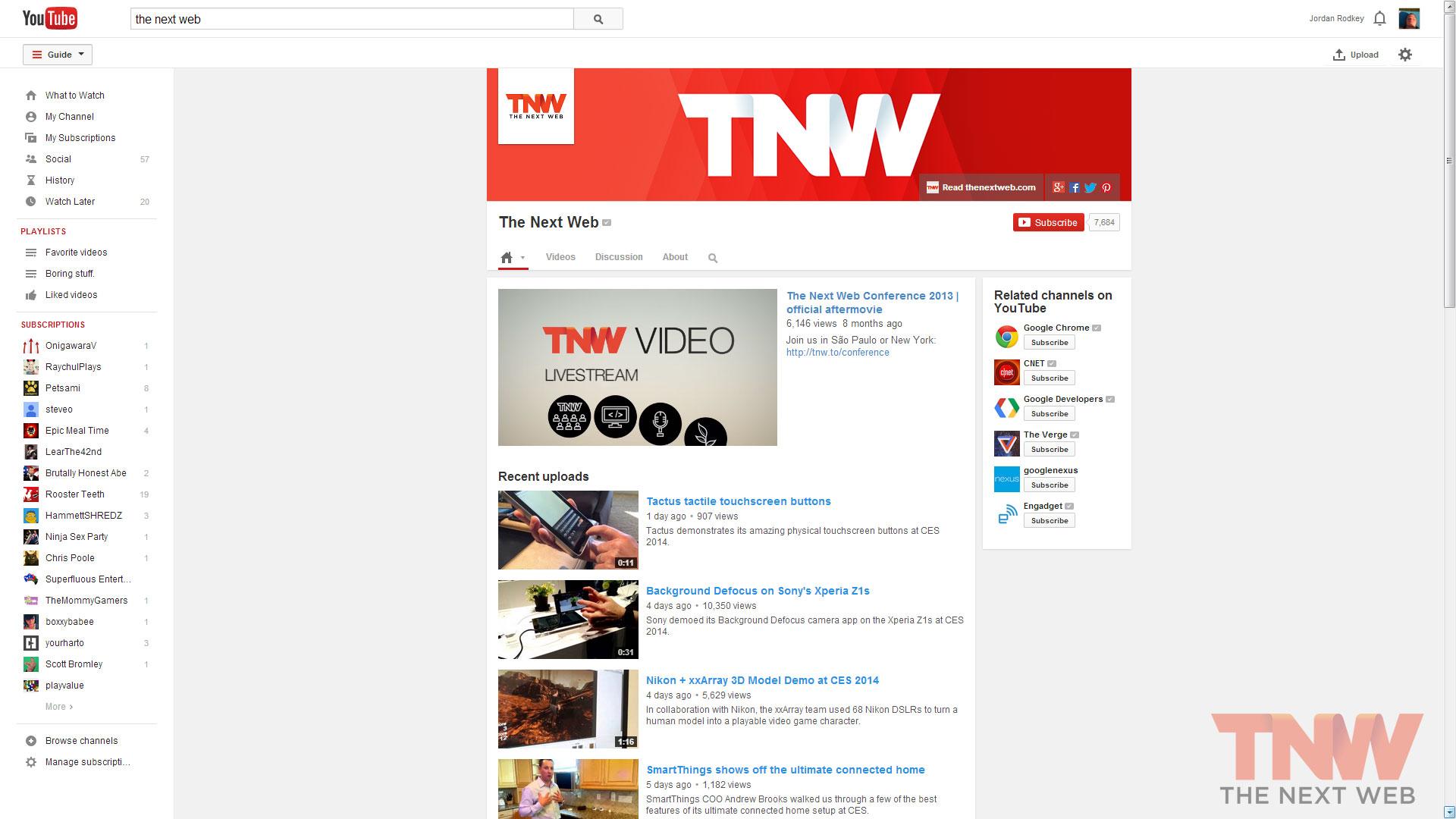 YouTube Design 2014