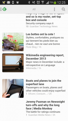 feedly 220x391 Word up: 16 apps to help you read on the move