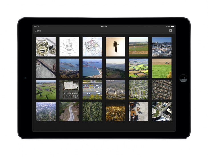 iPad photo grid 730x553 Box is giving away 50GB of free storage, as it introduces file previews and more to its iOS app