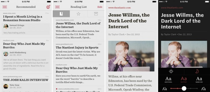 readability 730x320 Readability gets redesigned for iOS 7 and brings its Recommendations social sharing to mobile